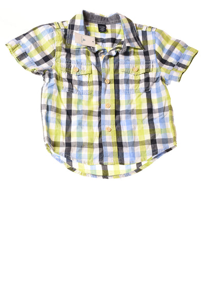 NEW Baby Gap Baby Boy's Top 18-24 Months Multi-Color / Plaid