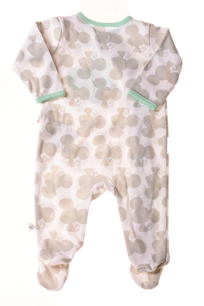 NEW First Moments Baby Boy's Sleeper 3 Months White & Gray