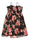 NEW Xhilaration Women's Dress Medium Black / Floral Print