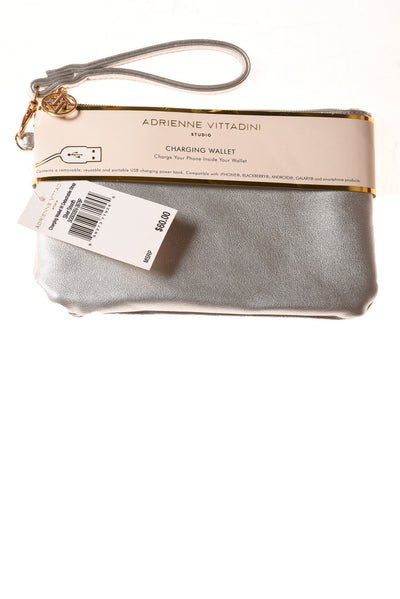 NEW Adrienne Vittadini Women's Handbag N/A Silver Smooth
