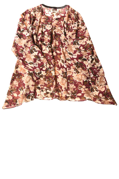 USED Rafaella Women's Plus Top 1X Multi-Color/Floral