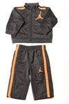 USED Jordan Baby Boy's Outfit 0-3 Months Gray & Orange / Print