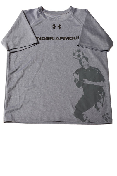 USED Under Armour Boy's Shirt  Large Gray