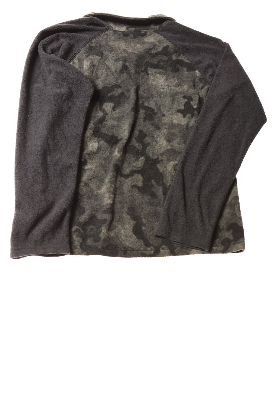 USED Columbia Boy's Shirt Medium Gray / Camo