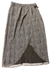 USED Valette Women's Skirt 10 Black & White / Print