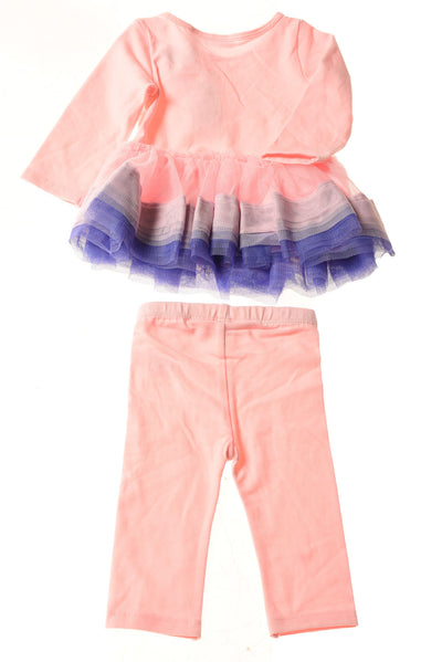 NEW First Impressions Baby Girl's Outfit 3-6 Months Pink & Purple