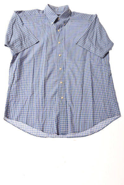 USED Brooks Brothers Men's Shirt Medium Blue / Plaid