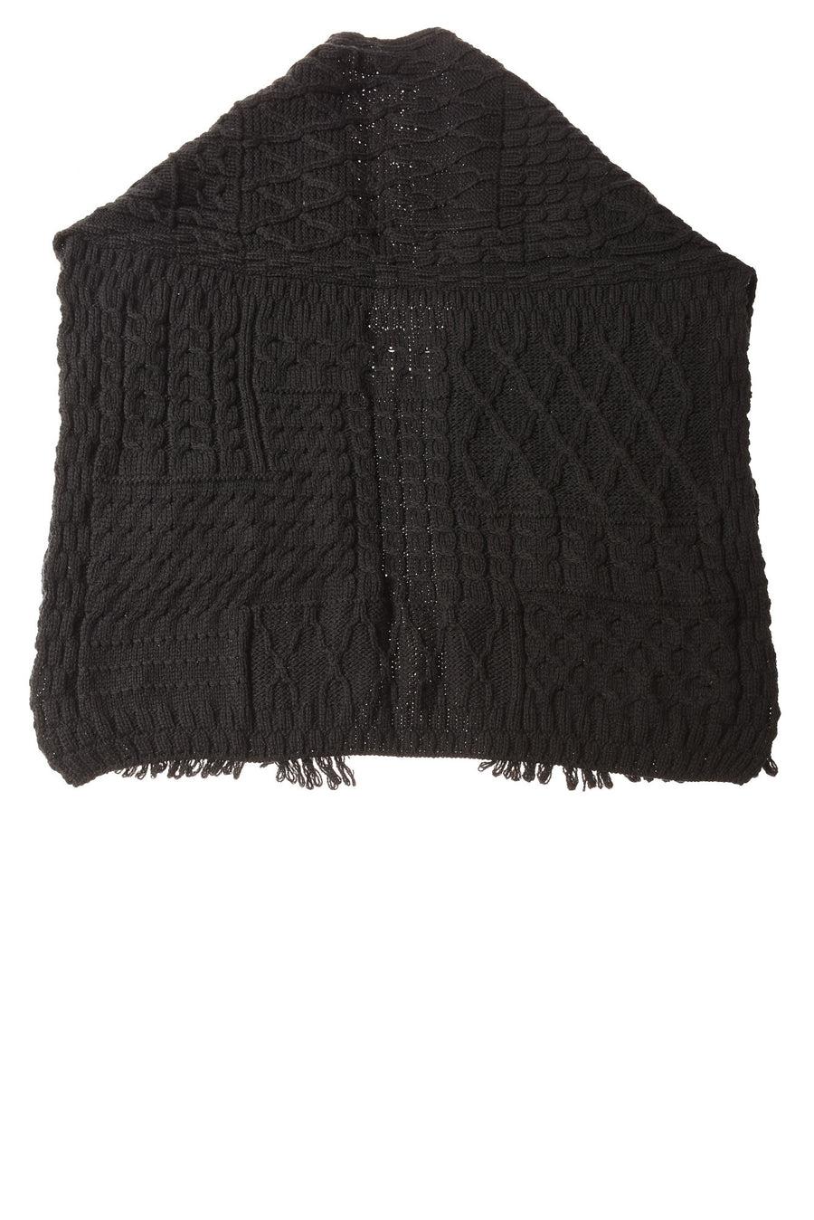 USED Connemara Knit Wear Women's Shawl One Size Black
