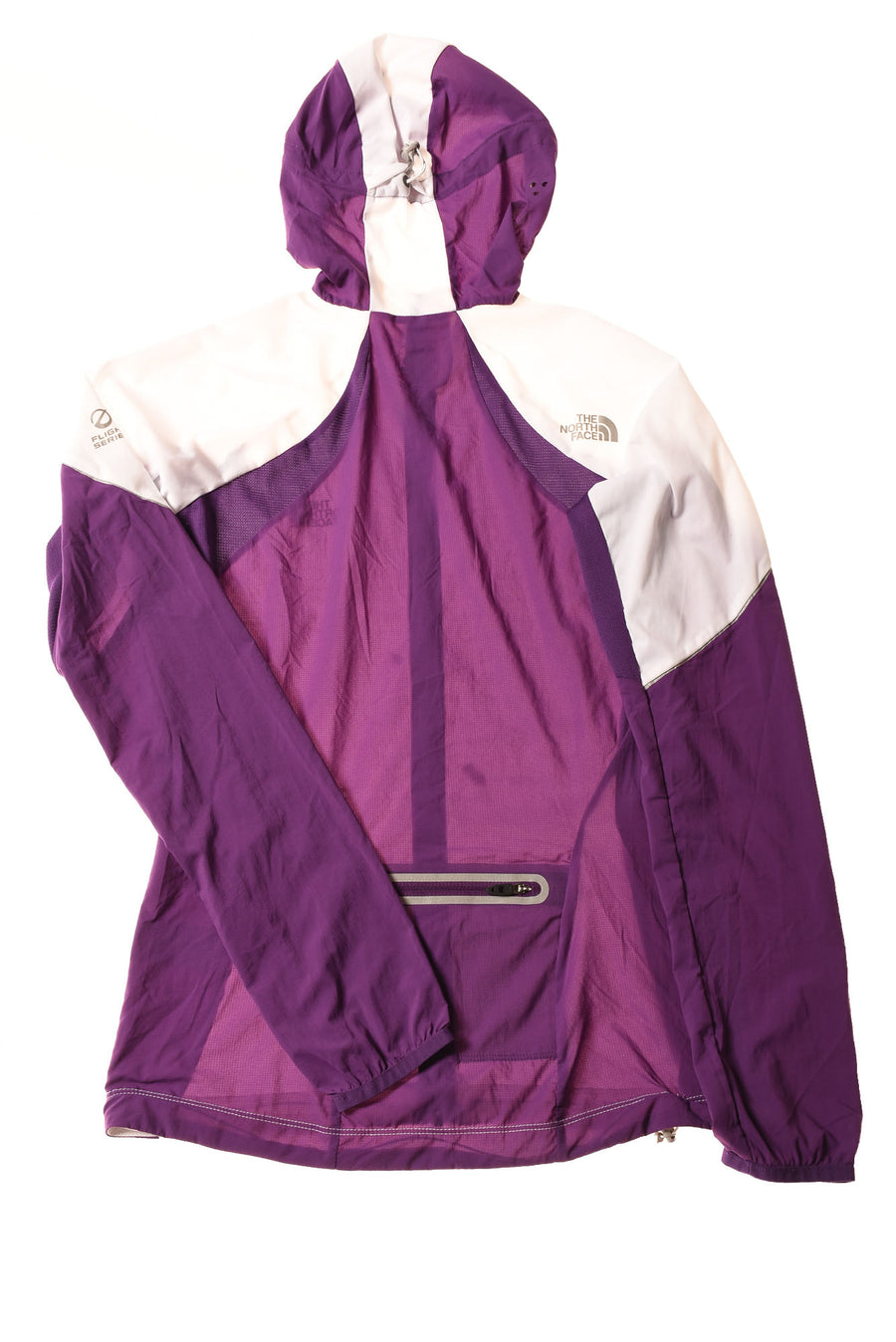 USED The North Face Women's Jacket X-Small White & Purple