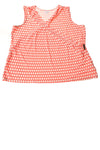 USED Charter Club Women's Top 2X Orange & White / Print