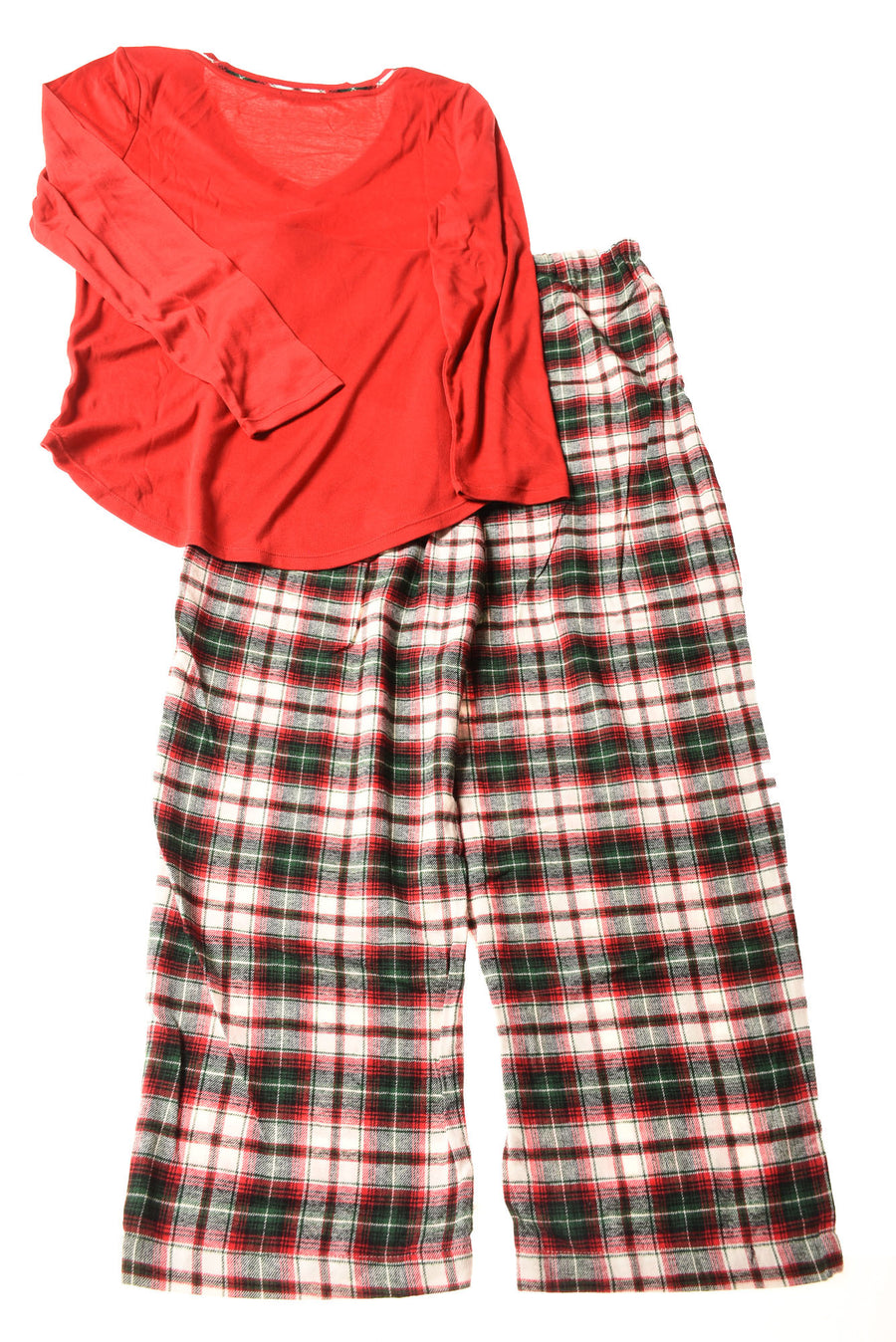 USED Ralph Lauren Women's Pajama's Large Red / Plaid
