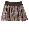 USED Free People Women's Skirt Small Purple / Print