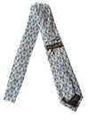 NEW Wilson & Bow Men's Tie N/A Gray & Blue / Print