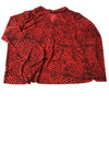 USED Susan Graver Women' Top 2X Red & Black/Print