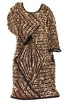 USED Privately Privileged Women's Dress Small Gold & Black