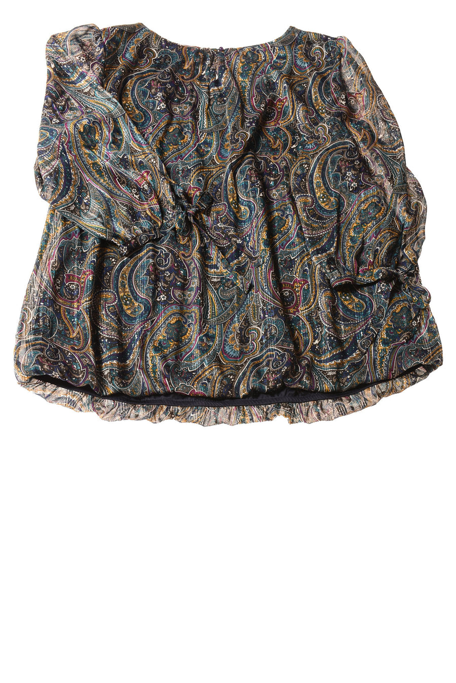 NEW Dressbarn Women's Top 2X Multi-Color Paisley Print