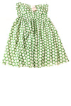 NEW Gracia Women's Dress Small Green & White / Polka Dot