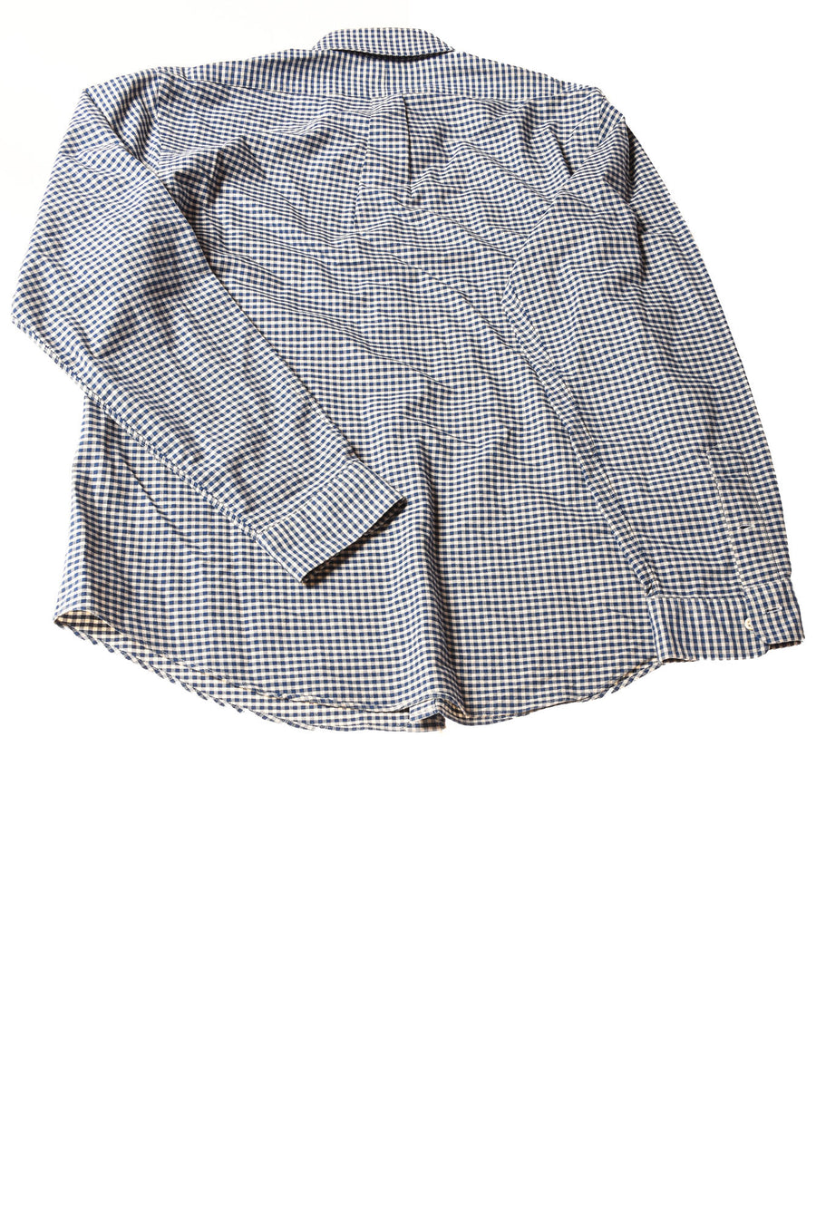 USED Ralph Lauren Men's Shirt X-Large Blue & White / Plaid