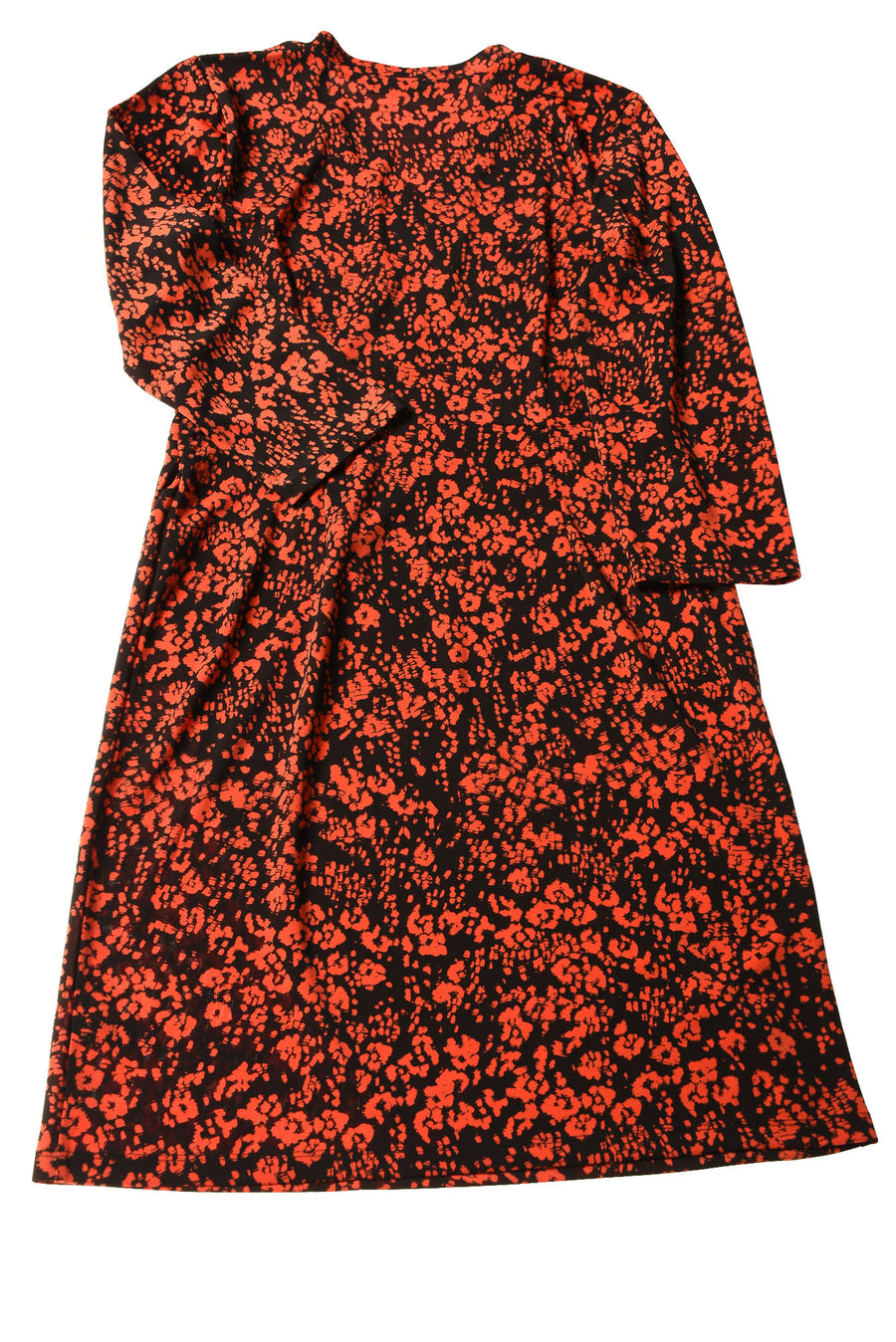 USED The Limited Women's Dress Medium Black & Orange / Print