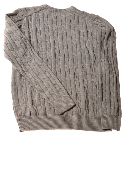USED Chaps Men's Sweater Small Gray
