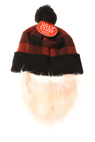 NEW Holiday Supply Co. Men's Hat One Size Red & Black Plaid