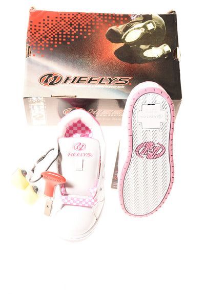 NEW Heely's Girl's Shoes 4 White & Pink
