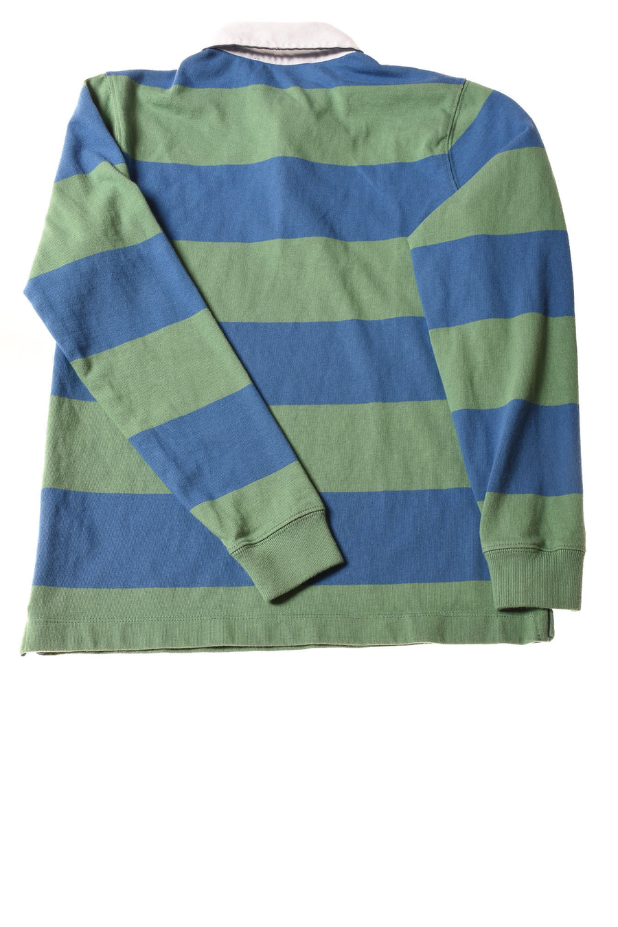 USED Vineyard Vines Boy's Shirt Medium Green & Blue / Striped