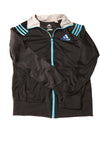 USED Adidas Women's Top Small Black & Blue
