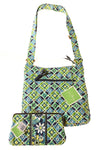NEW Vera Bradley Women's Handbag N/A Green & Blue / Print