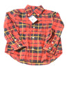 NEW Ralph Lauren Toddler Boy's Top 3T Red / Plaid
