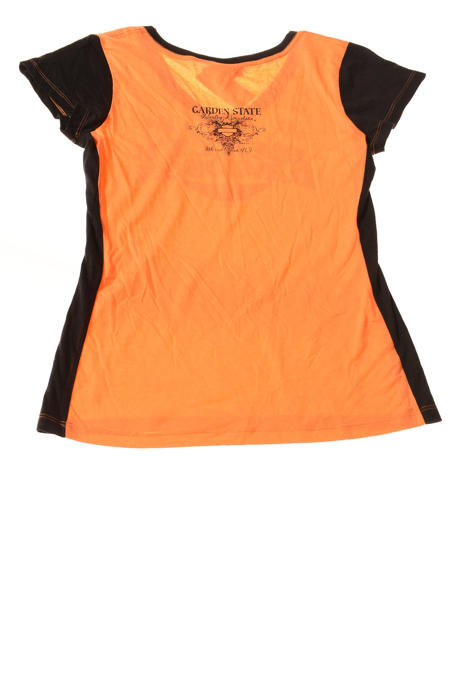 NEW Harley Davidson Women's Top Medium Orange & Black
