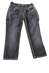 NEW Silver Jeans Women's Capri 24 Blue