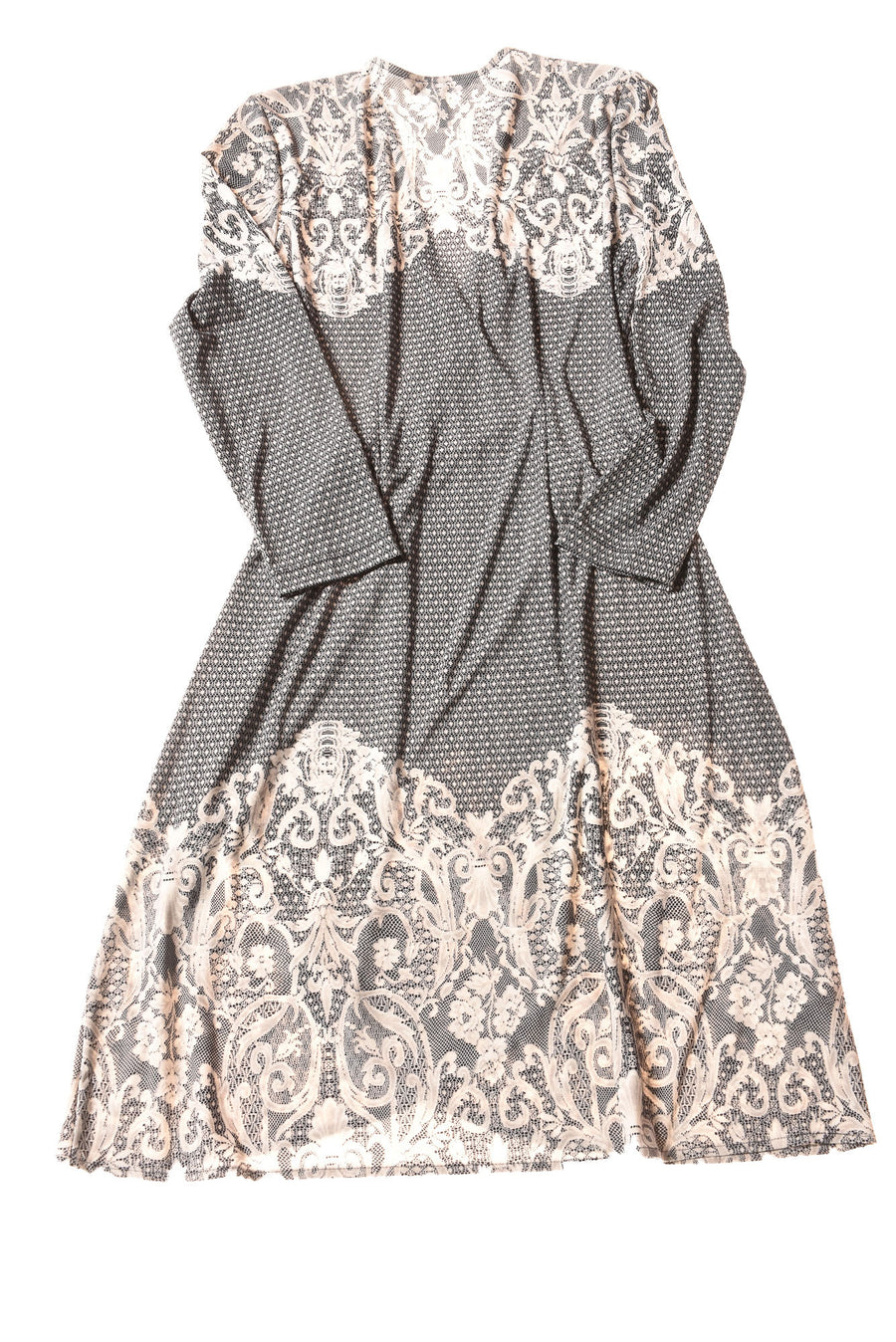 USED BCBG Maxazria Women's Dress Medium Gray / Print