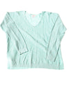 USED Vineyard Vines Women's Sweater Large Aqua