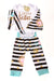 NEW Chuya Toddler Girl's Outfit 3T-4T White / Print