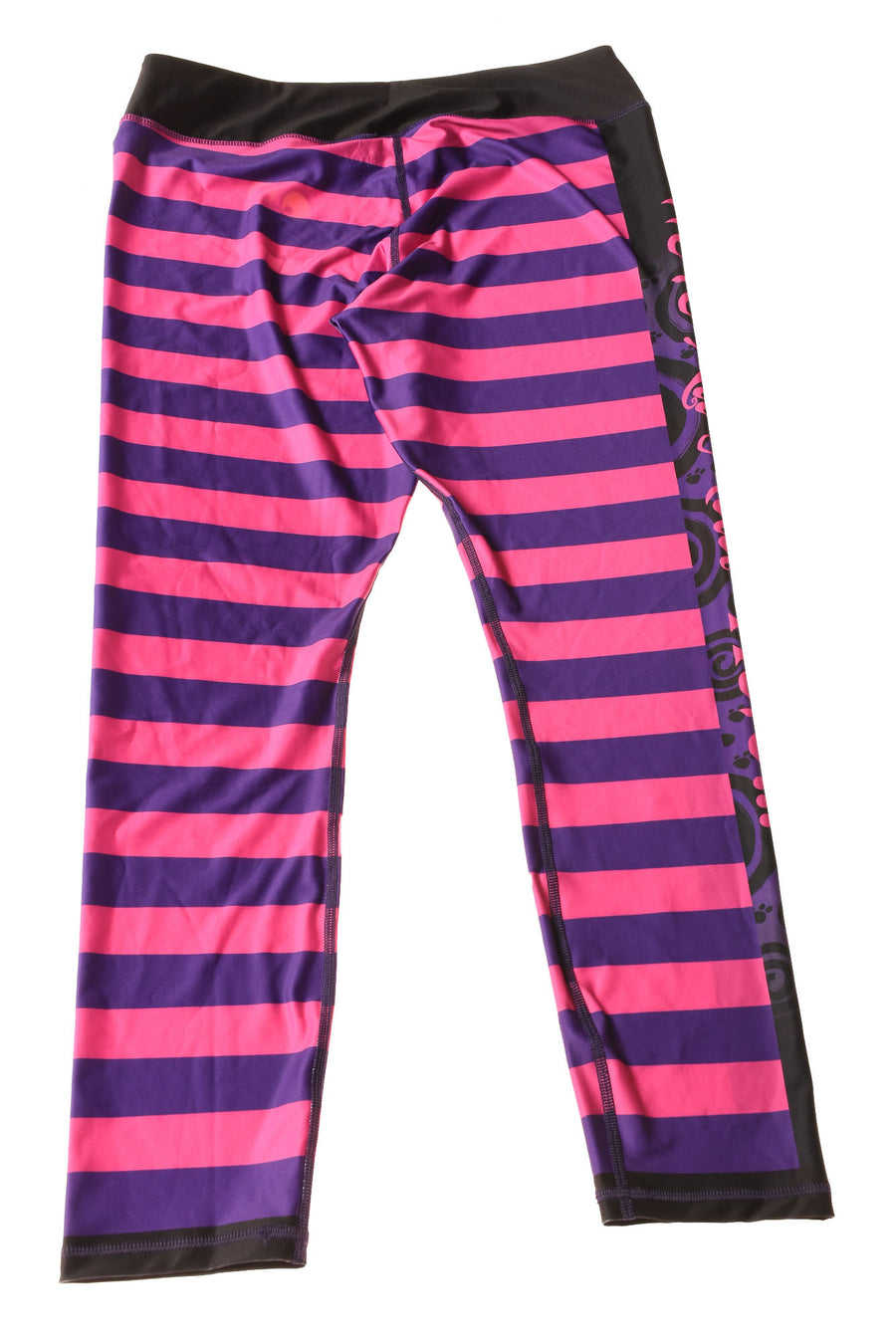 NEW Disney Women's Leggings X-Large Purple & Pink / Striped