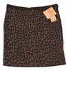 NEW Rachel Roy Women's Skirt Medium Blue & Brown