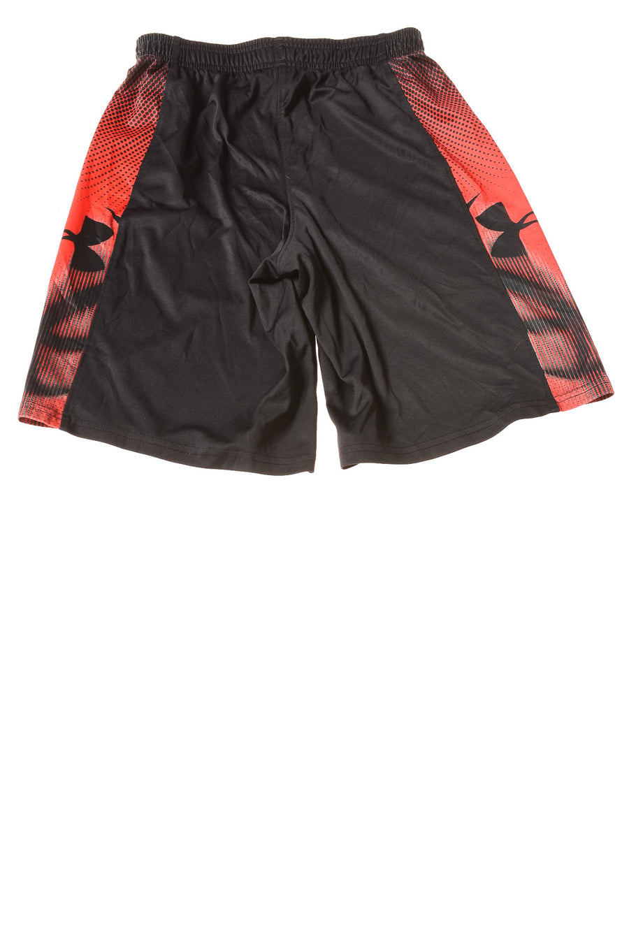 USED Under Armour Boy's Shorts Medium Black & Red / Print