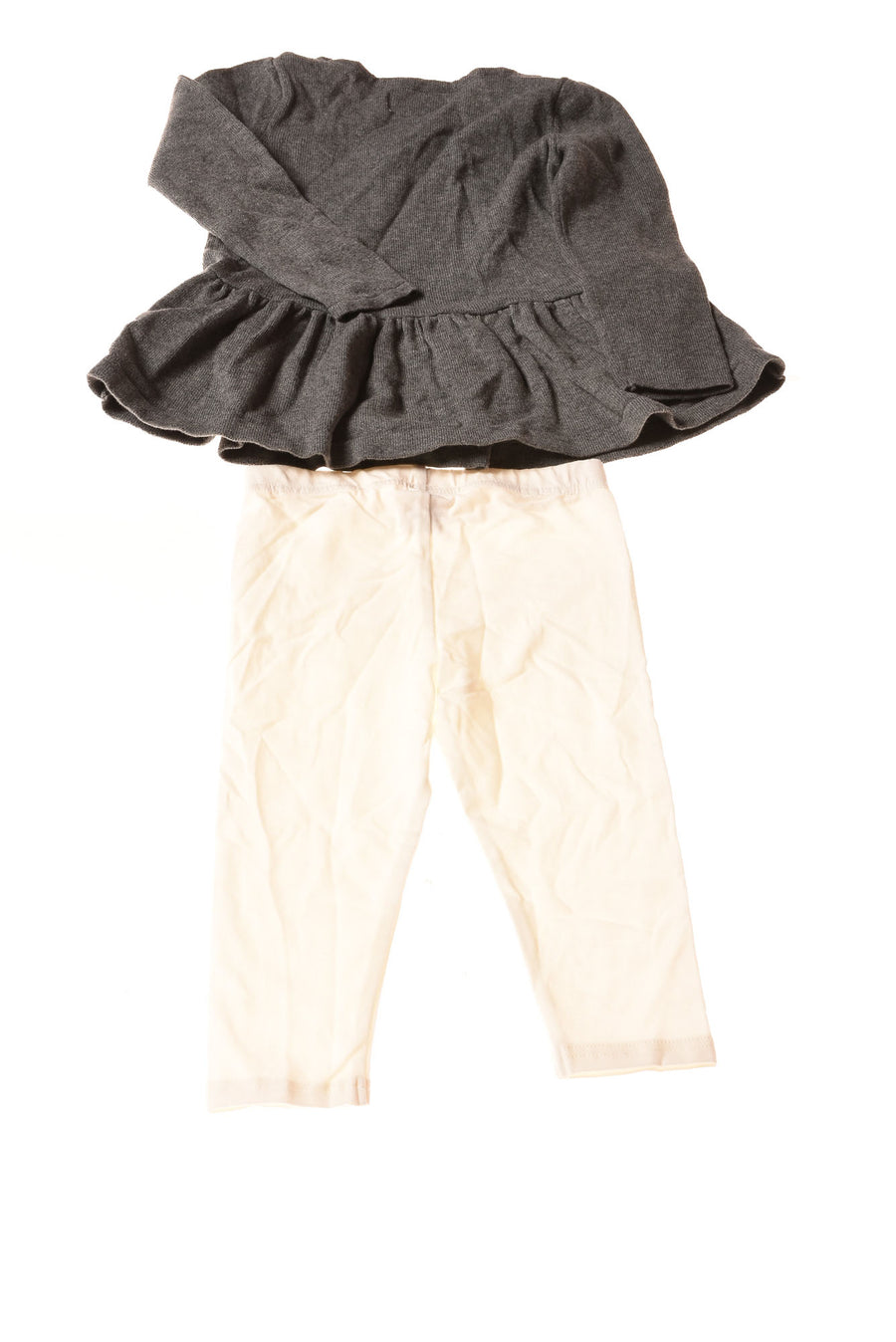 USED Wonder Kids Toddler Girl's Outfit 2T Gray & White