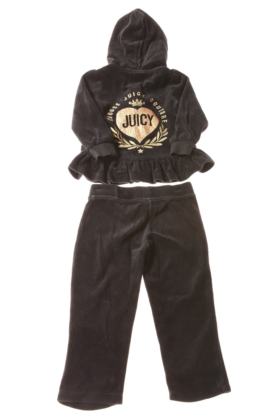 USED Juicy Couture Toddler Girl's Outfit 2T Black