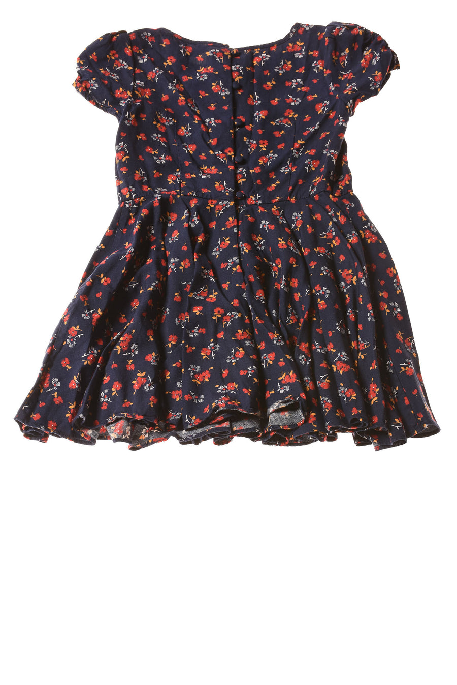 USED Ralph Lauren Toddler Girl's Dress 3T Navy / Floral