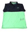 USED Under Armour Boy's Shirt Large Blue & Green