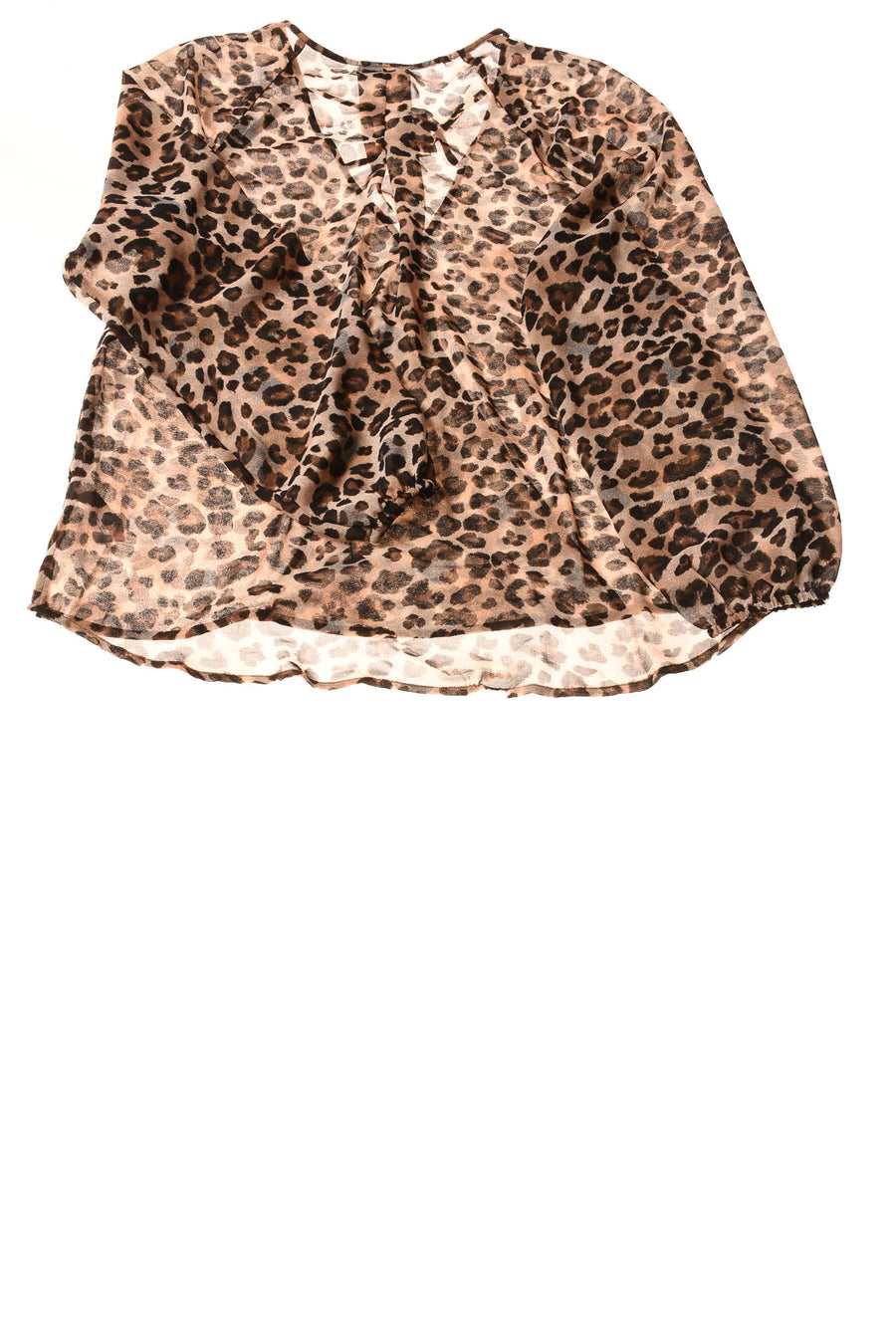 NEW Maurices Women's Top Large Brown / Cheetah Print