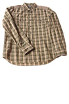USED Kenneth Cole Reaction Men's Shirt Large Green / Plaid
