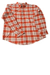 NEW Croft & Barrow Men's Shirt X-Large Rust / Plaid