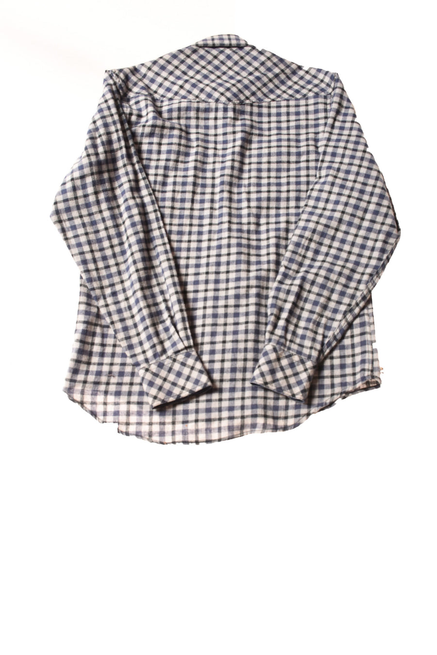 USED Duke's Bark Men's Shirt Small Blue/Plaid