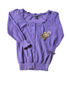 NEW Ashley Judd Women's Sweater Small Deep Wisteria
