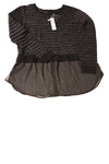 NEW Apt. 9 Women's Petite Sweater Large Black & Silver