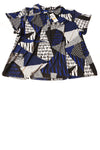 NEW Alfani Women's Top 3X Blue & Black / Print