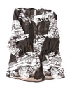 NEW Melissa McCarthy Women's Top 3X Black & White